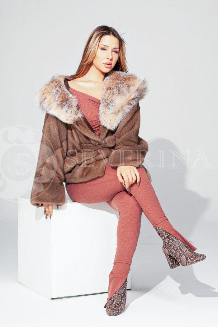 shuba norka pastel s rysju 5 700x1050 - шуба из меха норки с отделкой из меха рыси