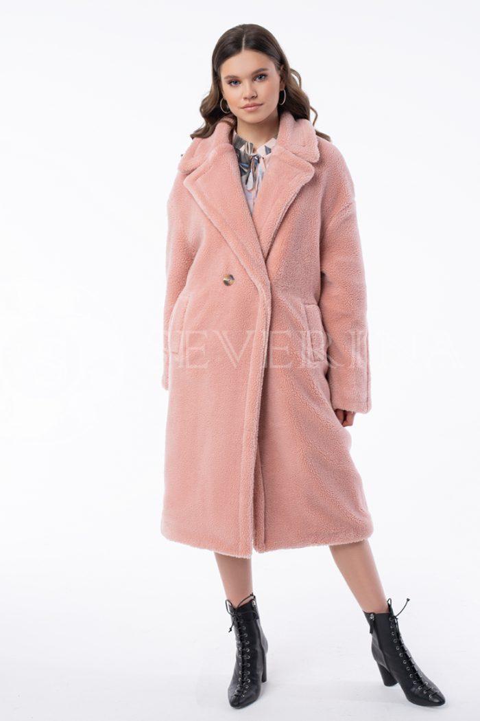 jeko shuby rozovaja 700x1050 - пальто из экомеха