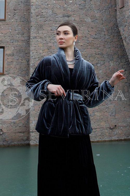 kurtka veljurovaja 1 500x750 - куртка-бомбер из меха норки комбинированный стежкой и вязаными рукавами