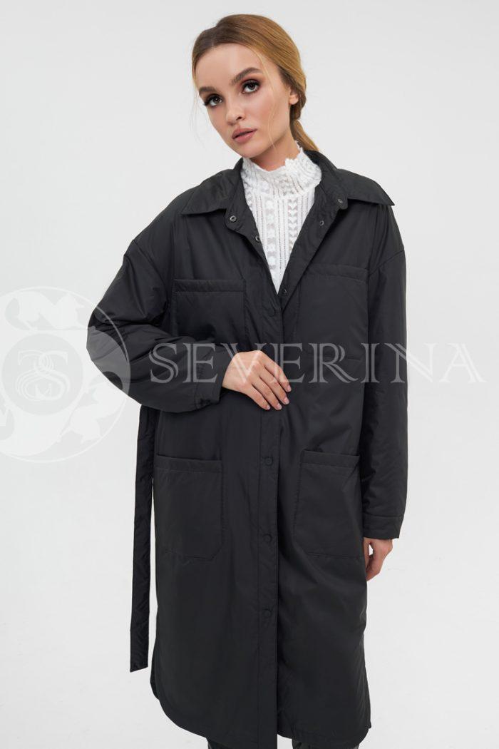 plashh rubashka chernyj 700x1050 - плащ-рубашка черного цвета на биопухе