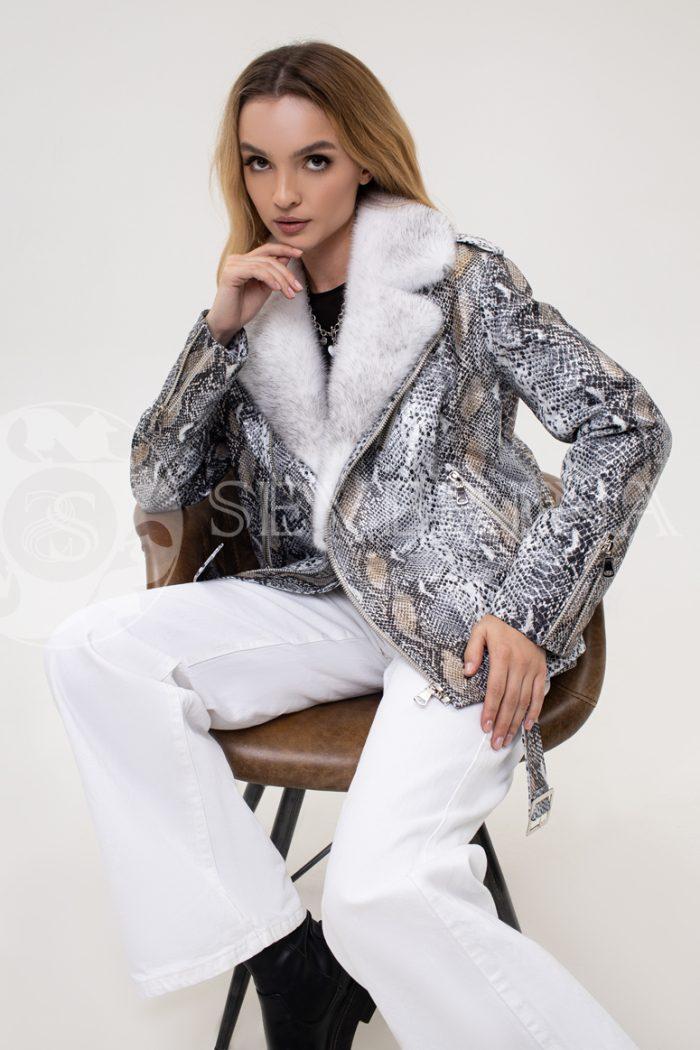 kosuha piton norka 700x1050 - куртка с отделкой мехом норки