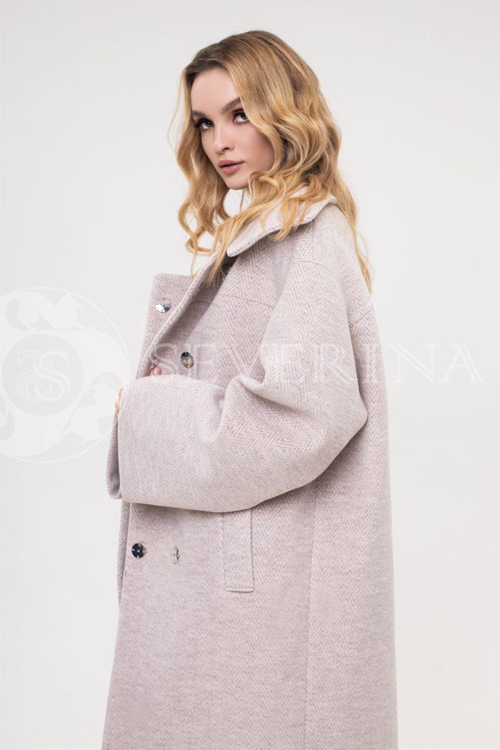 """palto elochka bezhevoe 700x1050 - пальто оверсайз """"в ёлочку"""""""