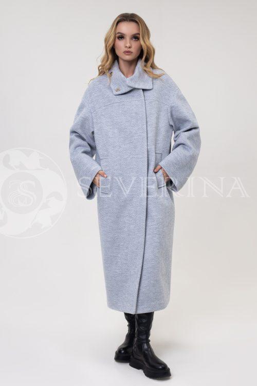 """palto elochka goluboe 500x750 - пальто оверсайз """"в ёлочку"""""""
