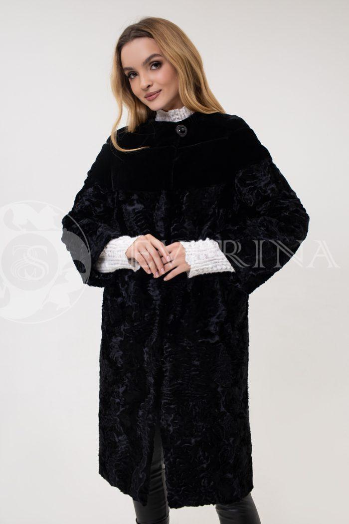 palto jekomeh karakul chernoe koketka 1 700x1050 - пальто из экомеха с имитацией каракуля