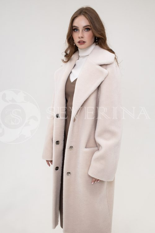 palto jekomeh svetlyj bezh 500x750 - пальто из экомеха