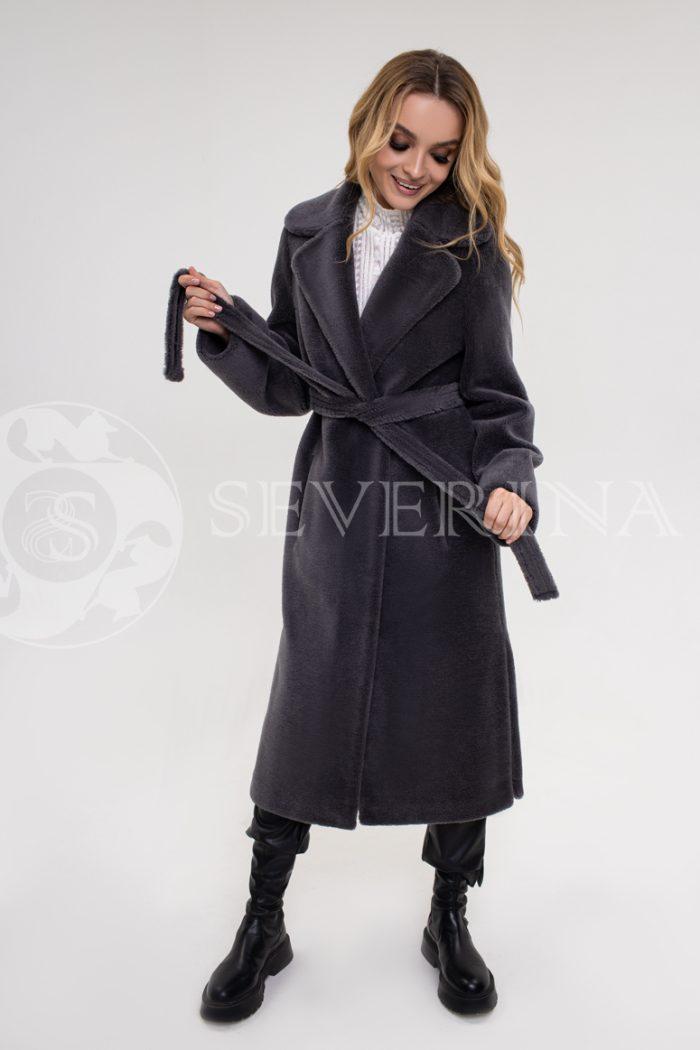palto jekomeh temno seroe 700x1050 - пальто из экомеха