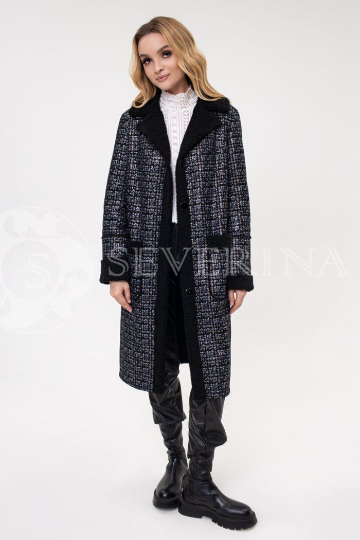 """palto jekomeh tvid shanel 700x1050 - пальто из экомеха с принтом """"шанель"""""""