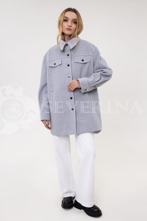 palto rubashka sinjaja 500x750 - пальто-рубашка из мягкой ткани на кнопках