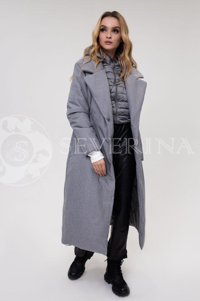 palto stezhka seroe dvojka 700x1050 - пальто-трансформер стёганое на биопухе