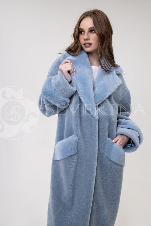 palto goluboe jekomeh 500x750 - пальто из экомеха