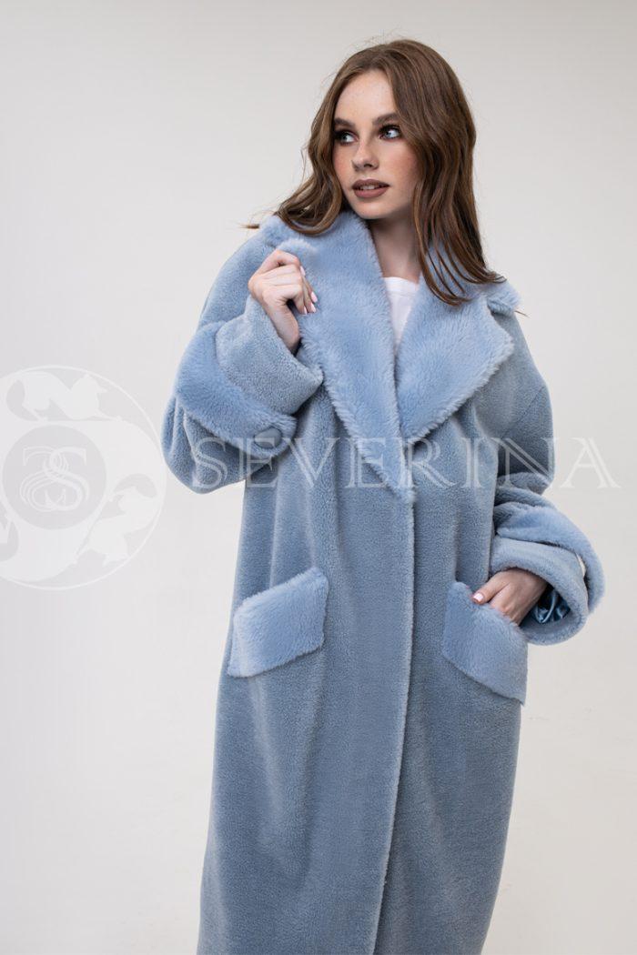 palto goluboe jekomeh 700x1050 - пальто из экомеха