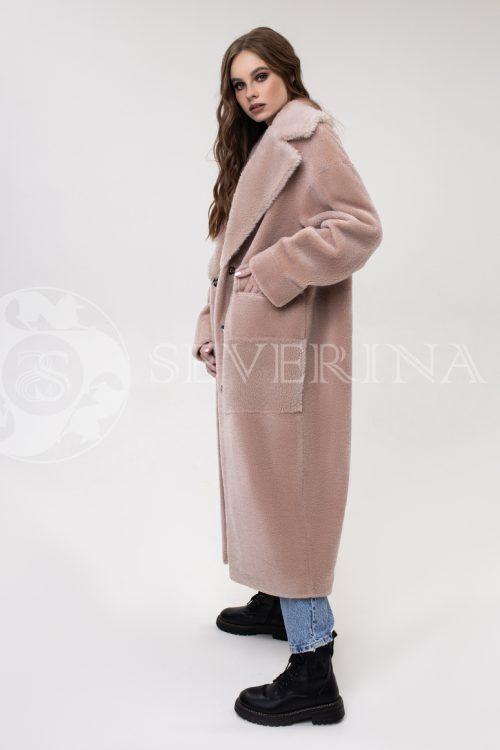 palto pudrovo rozovoe jekomeh 500x750 - пальто из экомеха