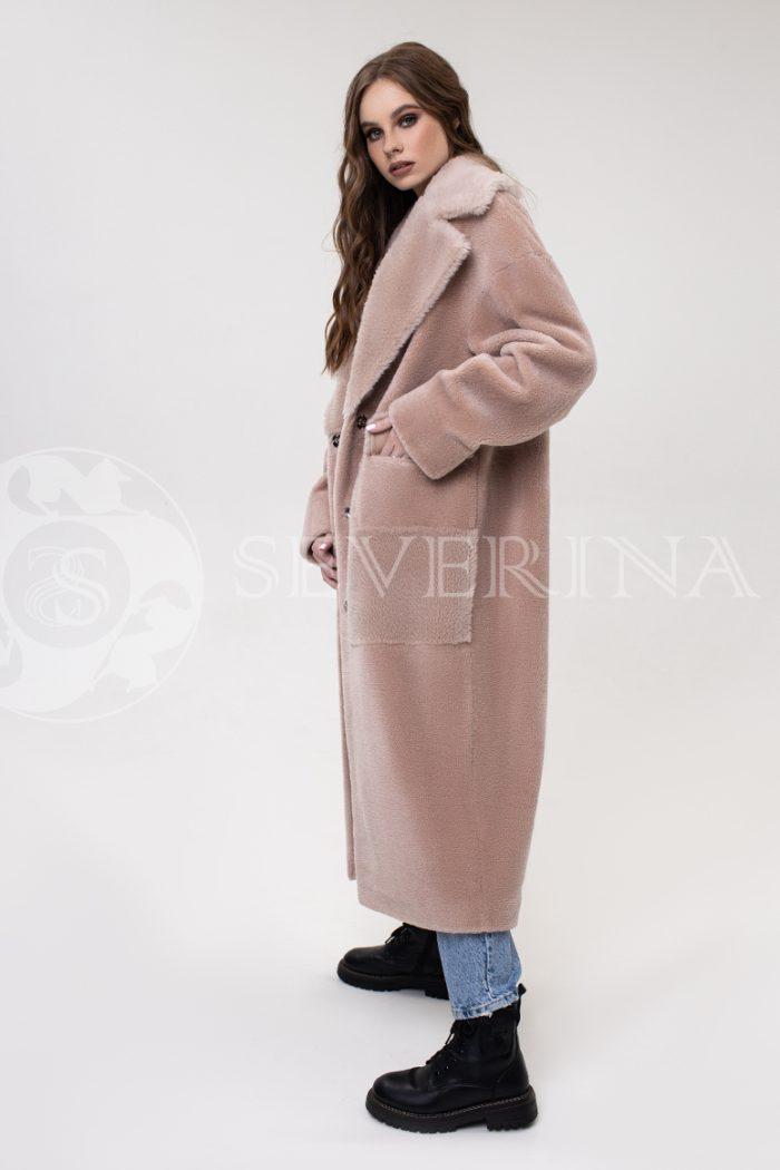 palto pudrovo rozovoe jekomeh 700x1050 - пальто из экомеха
