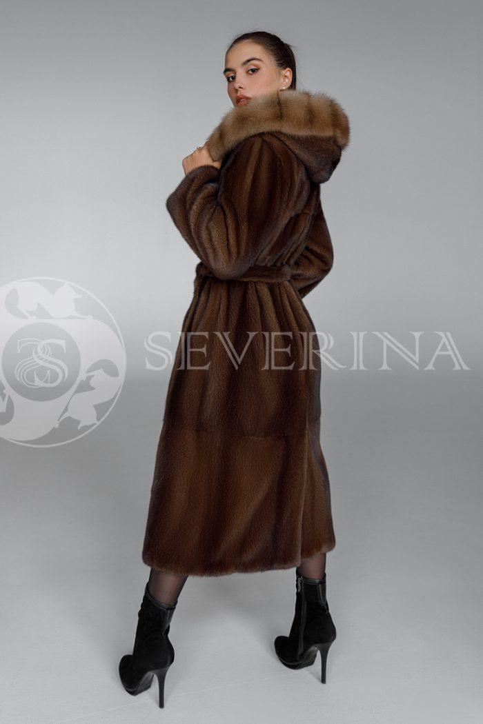 shuba norka oreh kapjushon sobol 3 700x1050 - шуба из меха норки brown с отделкой мехом куницы