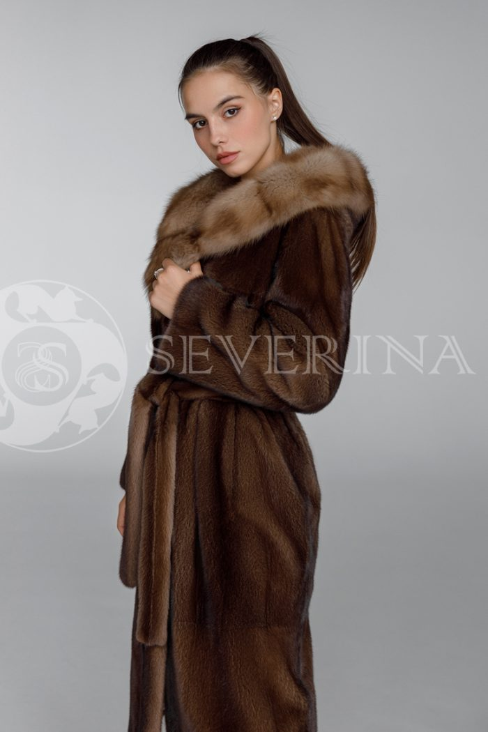 shuba norka oreh kapjushon sobol 7 700x1050 - шуба из меха норки brown с отделкой мехом куницы