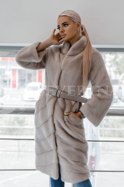 shuba pudrovaja norka 500x750 - пальто-дубленка из экомеха